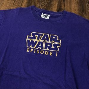 90s Vintage Star Wars Episode One T Shirt Purple